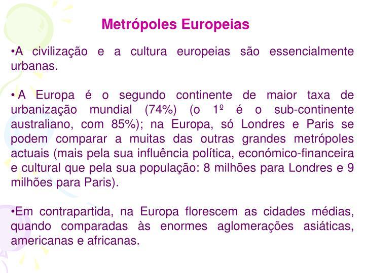 Metrópoles Europeias