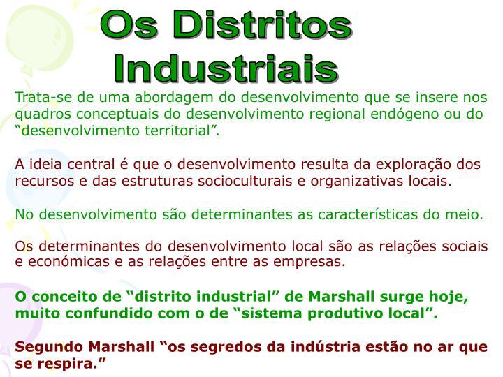 Os Distritos