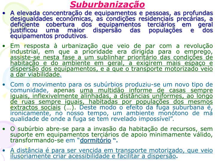 Suburbanização