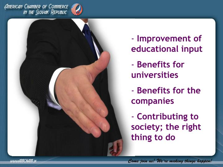 Improvement of educational input