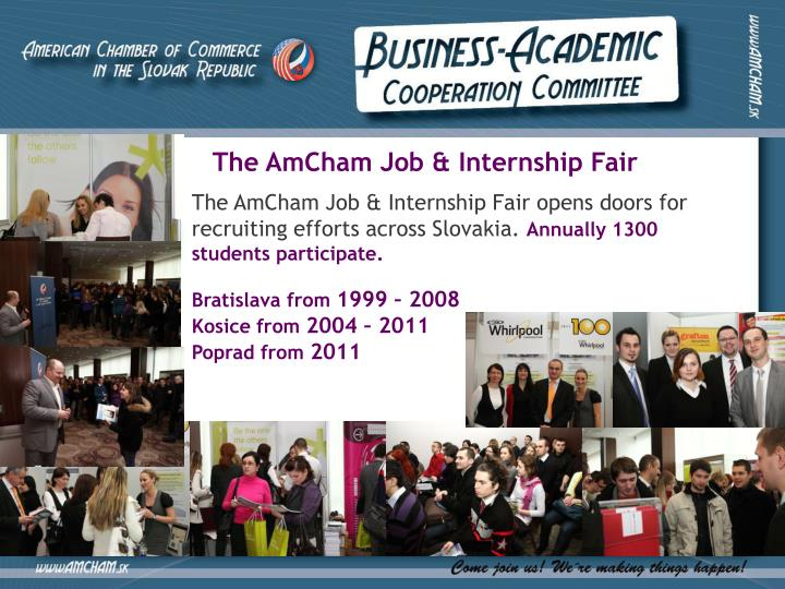 The AmCham Job & Internship Fair