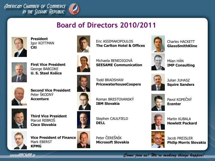 Board of Directors 2010/2011