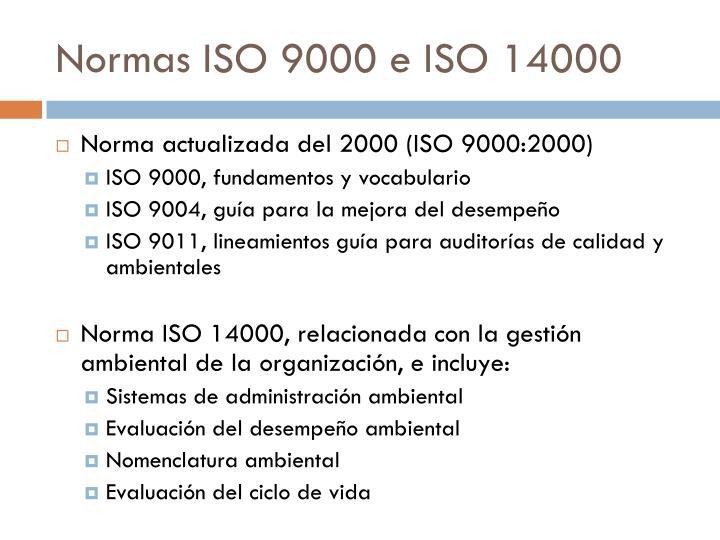 Normas ISO 9000 e ISO 14000