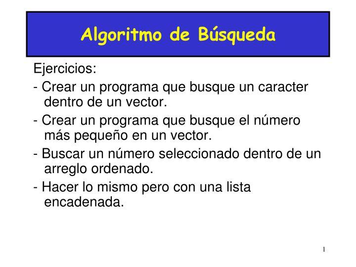 Algoritmo de Búsqueda