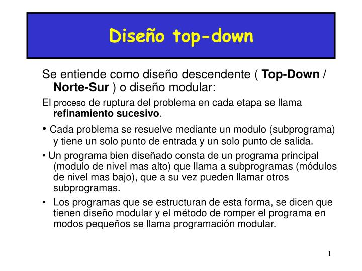 Diseño top-down