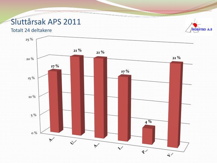 Sluttårsak APS 2011