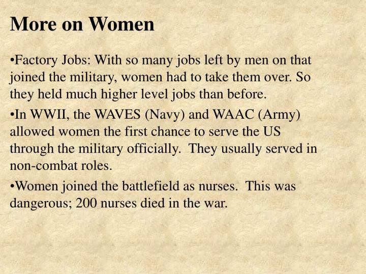 More on Women