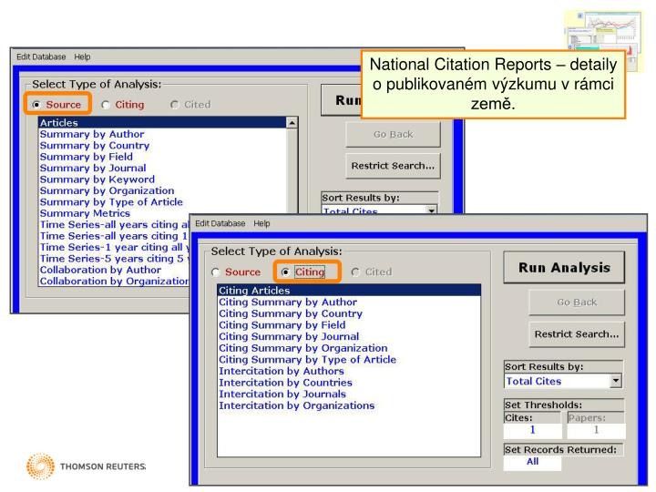 National Citation Reports –