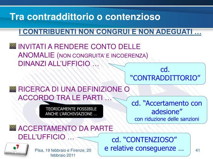 Tra contraddittorio o contenzioso