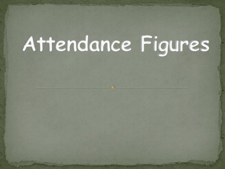 Attendance Figures