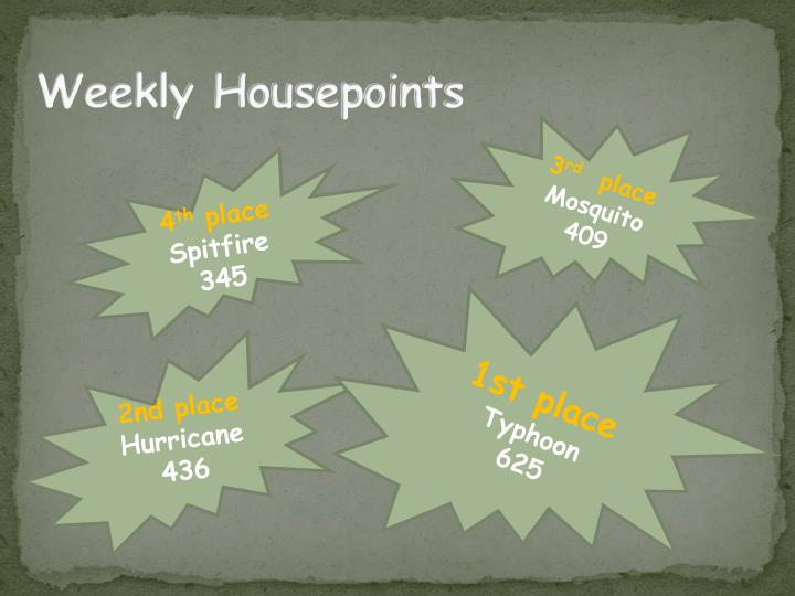 Weekly Housepoints