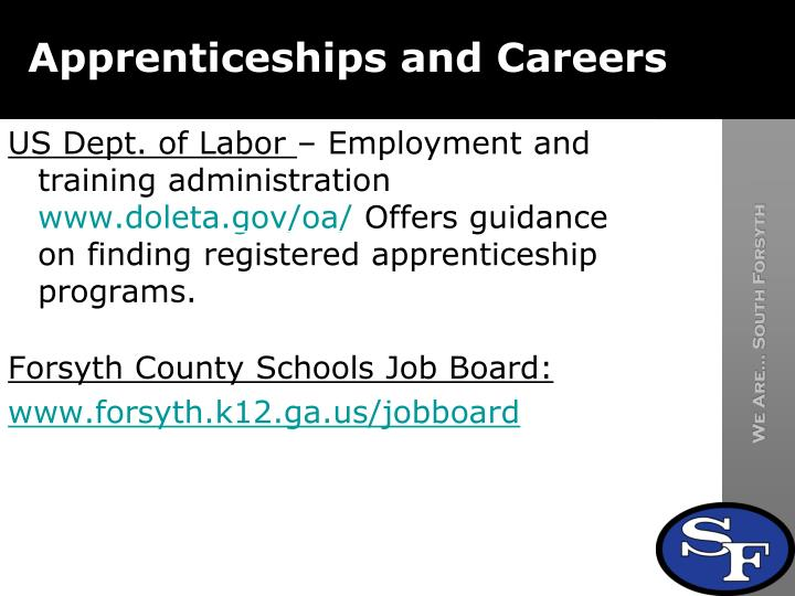 Apprenticeships and Careers