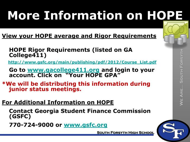 More Information on HOPE