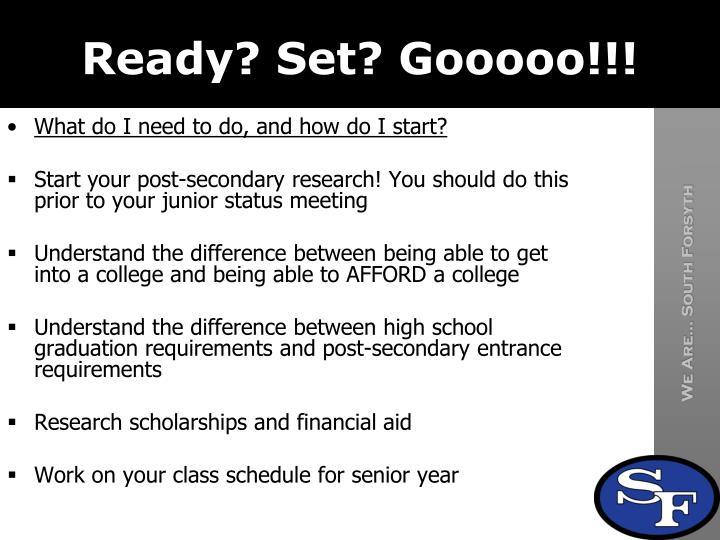 Ready? Set?
