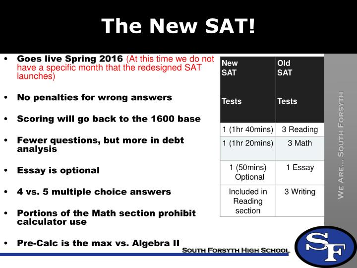 The New SAT!