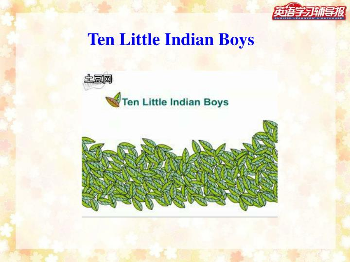 Ten Little Indian Boys