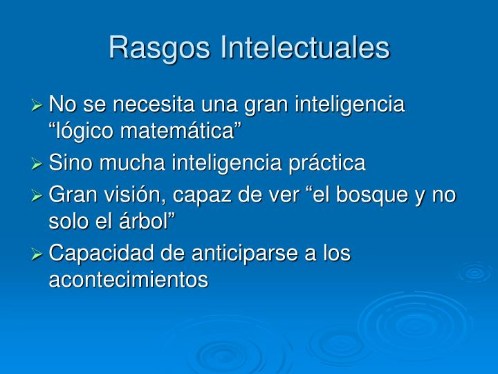 Rasgos Intelectuales