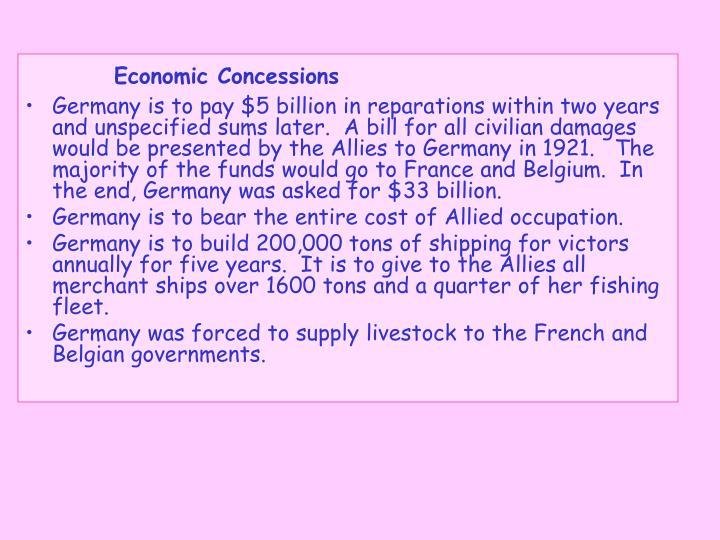 Economic Concessions