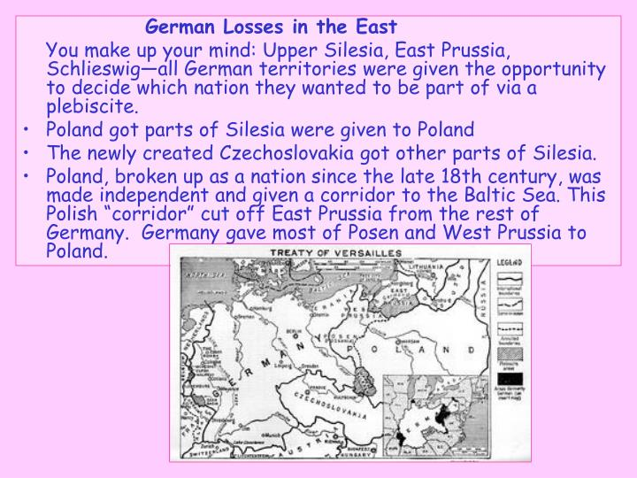 German Losses in the East