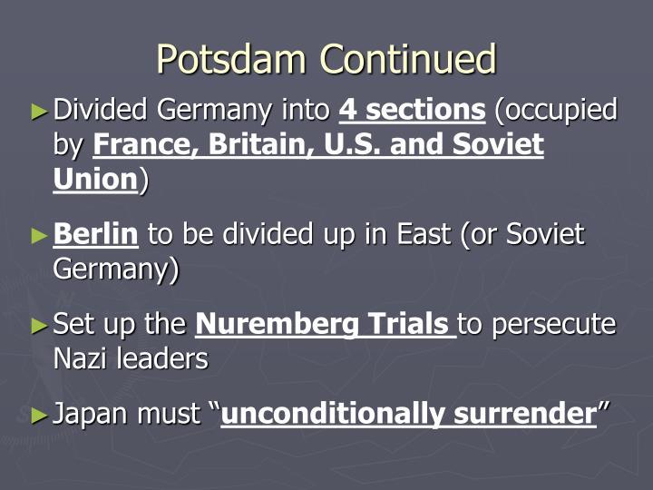 Potsdam Continued