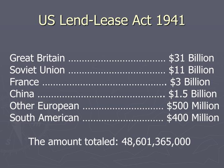 US Lend-Lease Act 1941