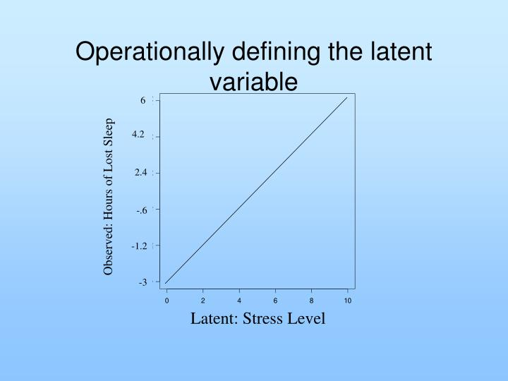 Operationally defining the latent variable
