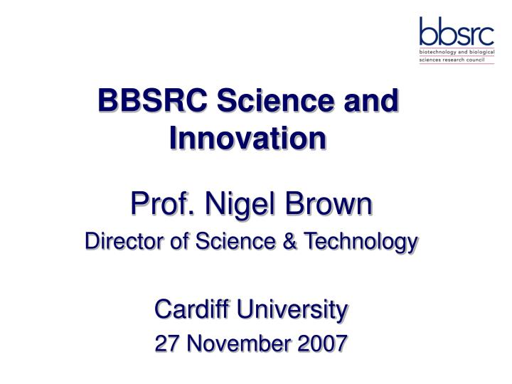 Bbsrc science and innovation