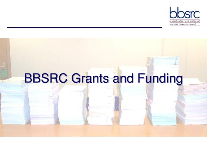 BBSRC Grants and Funding