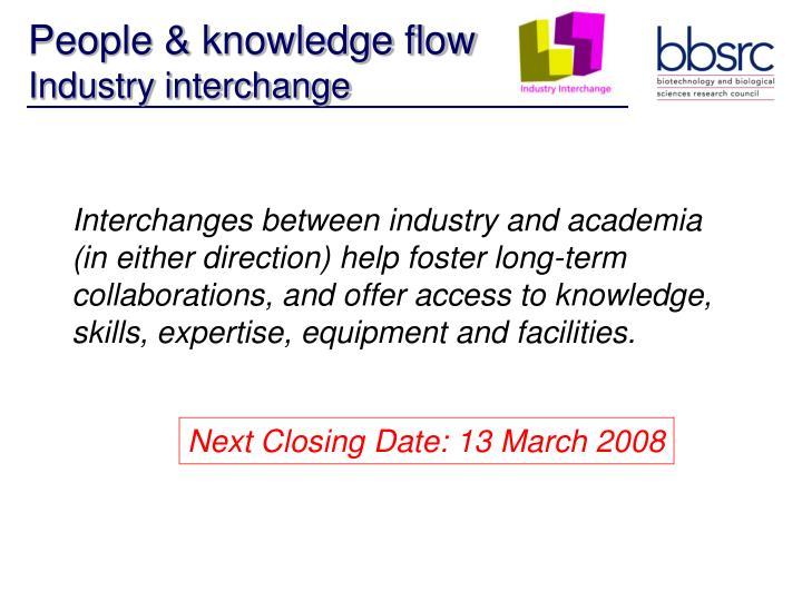 People & knowledge flow