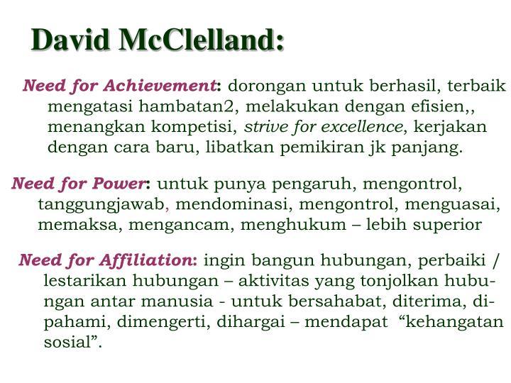 David McClelland: