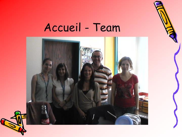 Accueil - Team