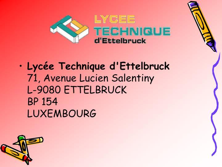 Lycée Technique d'Ettelbruck