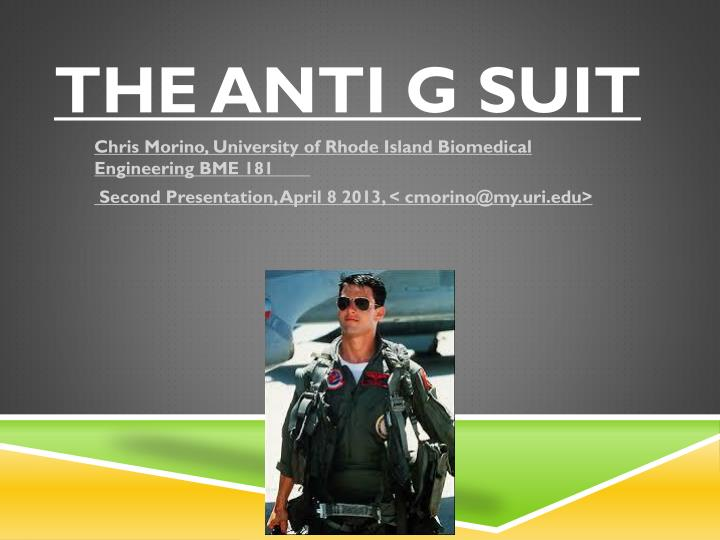 The anti g suit