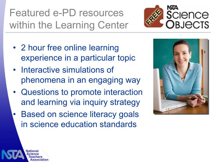 Featured e-PD resources