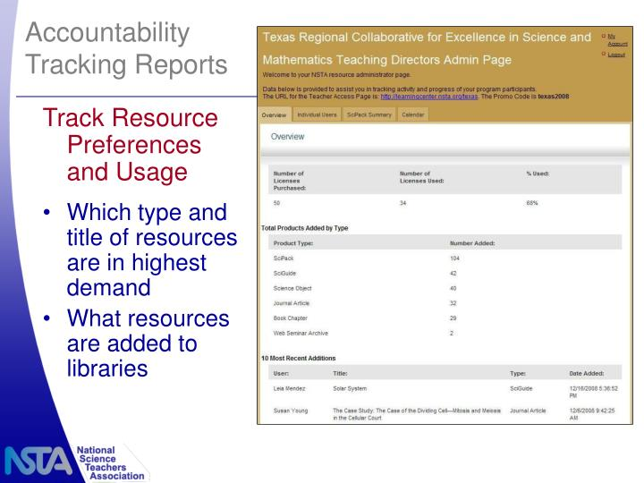 Track Resource Preferences