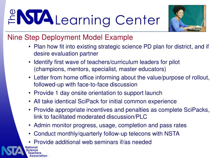 Nine Step Deployment Model Example