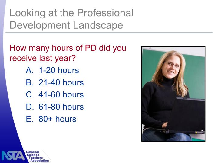 Looking at the Professional Development Landscape