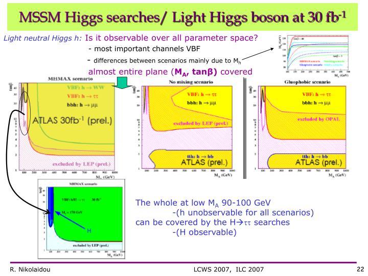Light neutral Higgs h: