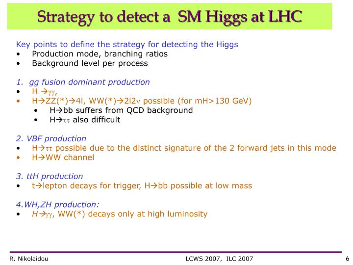 Strategy to detect a  SM Higgs at LHC