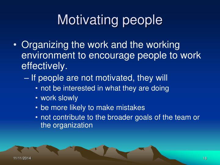 Motivating people