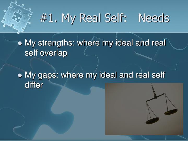 #1. My Real Self:   Needs