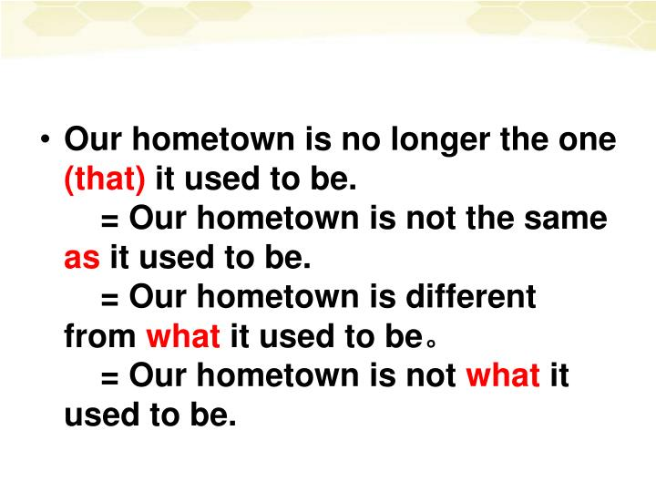 Our hometown is no longer the one