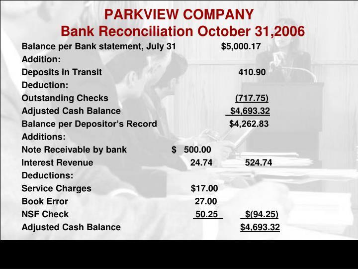 PARKVIEW COMPANY