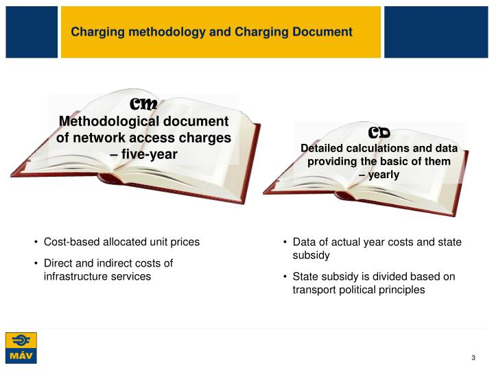 Charging methodology and Charging Document