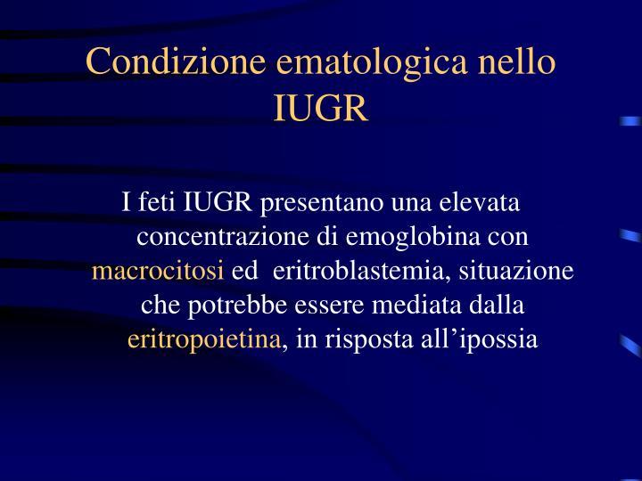 Condizione ematologica nello IUGR