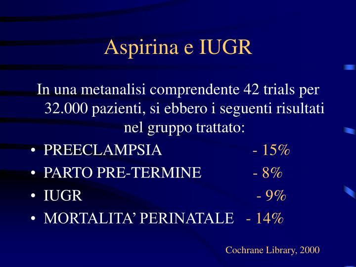 Aspirina e IUGR