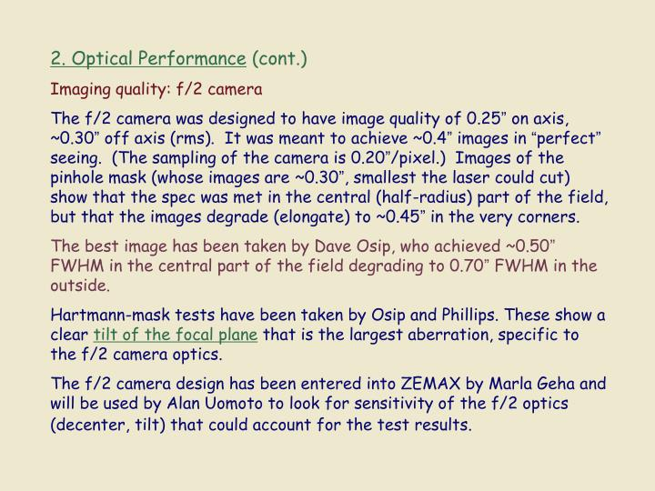 2. Optical Performance