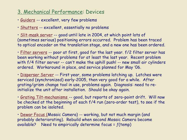 3. Mechanical Performance