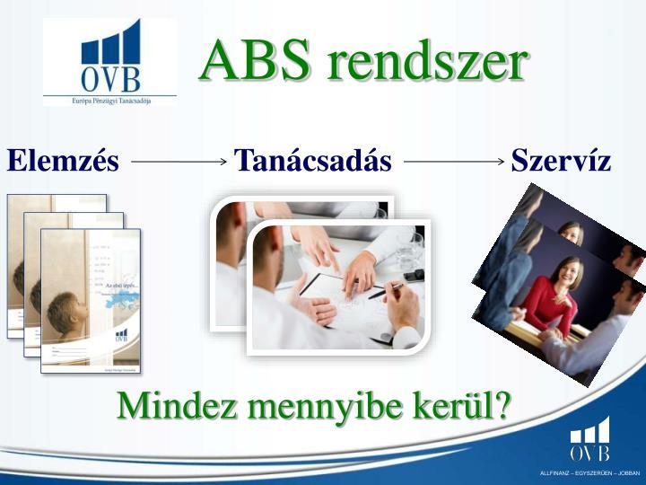 ABS rendszer