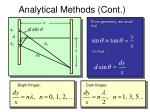analytical methods cont